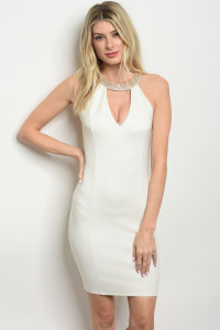 S10-16-3-D7552 IVORY WITH STONES DRESS 2-2-1