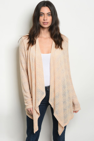 C32-A-5-C2516C PEACH GRAY CARDIGAN 2-2-2