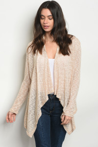C27-A-1-C2516 TAUPE IVORY CARDIGAN 2-1