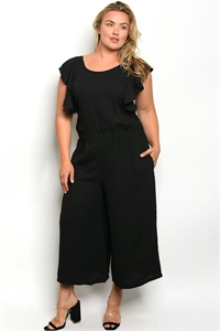S10-7-2-J5666X BLACK PLUS SIZE JUMPSUIT 2-2-2