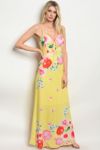 S10-7-1-D02618 YELLOW FLORAL DRESS 2-2-2