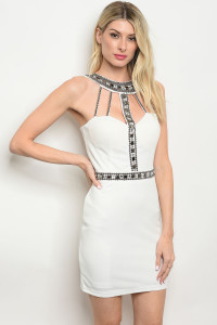 S23-12-5-D13076 WHITE WITH STONES DRESS 2-2-2