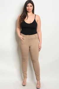 S4-2-2-P4960X KHAKI PLUS SIZE PANTS 2-2-2