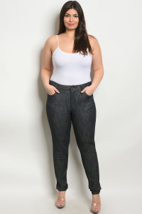 S10-13-1-P5062X BLACK DENIM PLUS SIZE PANTS 2-2-2