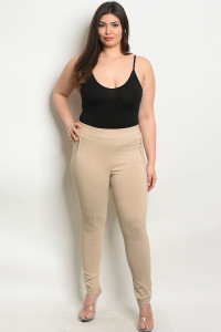 S4-3-1-L4809X KHAKI PLUS SIZE PANTS 2-2-2
