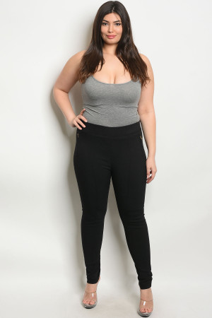 S4-3-1-L4809X BLACK PLUS SIZE PANTS 2-2-2