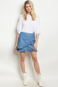 S9-15-1-NA-S73796 DENIM BLUE SKIRT 3-2-1