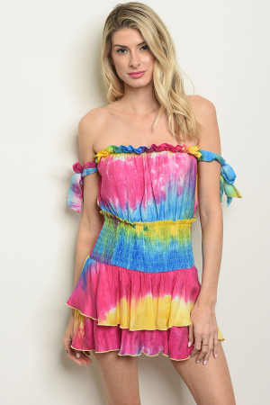 S25-8-3-R4993 MULTI COLOR ROMPER 3-2-1