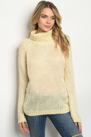 S8-1-4-S0411 CREAM SWEATER 3-2-1