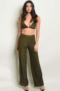 S8-10-1-SET4119 GOLD SHIMMER TOP & PANTS SET 1-2-2-1