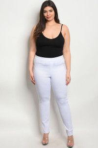 S4-1-3-L6662X WHITE PLUS SIZE PANTS 2-2-2