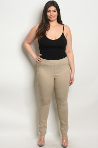 S4-1-3-L6662X KHAKI PLUS SIZE PANTS 2-2-2