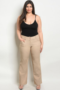 S9-11-2-P5810X TAN PLUS SIZE PANTS 2-2-2