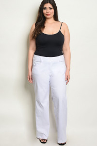 S10-7-2-P5810X OFF WHITE PLUS SIZE PANTS 2-2-2
