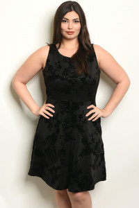 C102-A-1-D14443X BLACK PLUS SIZE DRESS 2-1-4-2