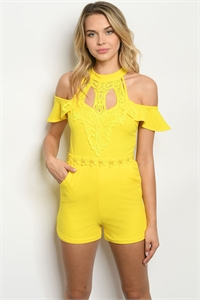 S15-8-3-R09050 YELLOW ROMPER 3-2-3