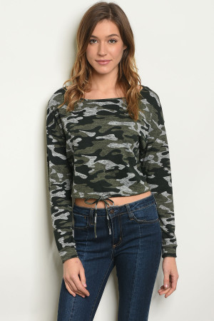 S10-4-2-T6010 OLIVE CAMOUFLAGE TOP 2-2-2