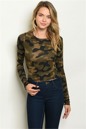S7-2-2-T5178 OLIVE CAMOUFLAGE TOP 2-2-2