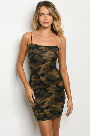 S10-9-3-D1679 OLIVE CAMOUFLAGE DRESS 2-2-2