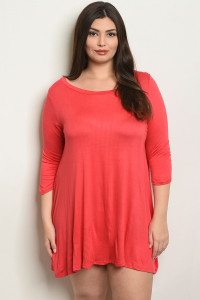 C100-A-3-T2411X RED PLUS SIZE DRESS 2-2-2
