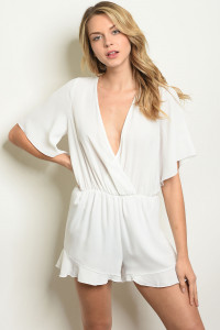 C87-A-1-R11711 OFF WHITE ROMPER 3-1-1