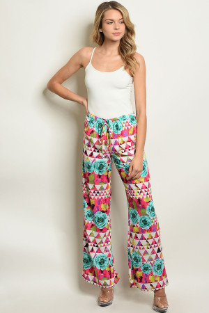 C41-A-1-P12182 FUCHSIA JADE WITH ROSES PANTS 2-2