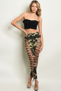 S23-13-3-P21390 OLIVE CAMOUFLAGE PANTS 3-1-3