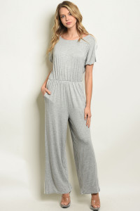 C50-A-2-J90125 GRAY OFF WHITE JUMPSUIT 2-2-2