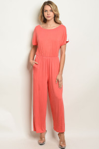 C50-A-2-J90125 CORAL OFF WHITE JUMPSUIT 2-2-2