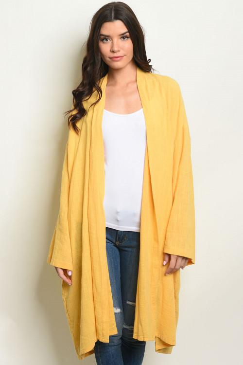C77-A-6-C70074 YELLOW CARDIGAN 2-2-2