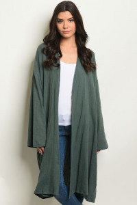 C64-A-3-C70074 HUNTER GREEN CARDIGAN 2-2-2