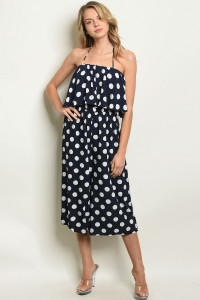S17-6-4-J90038 NAVY WHITE WITH POLKA DOTS JUMPSUIT 1-1-1