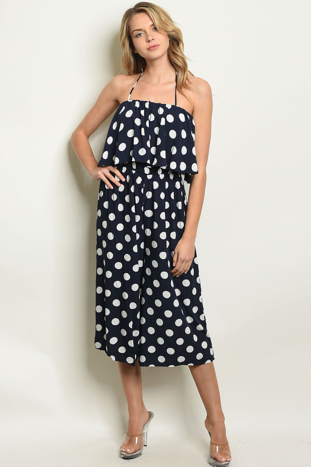 68bf7cff1b4 ... NAVY WHITE WITH POLKA DOTS JUMPSUIT 1-1 · Larger Photo ...
