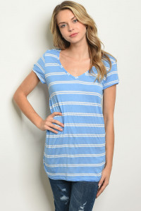 C93-A-2-T3326 BLUE STRIPES TOP 2-2-2