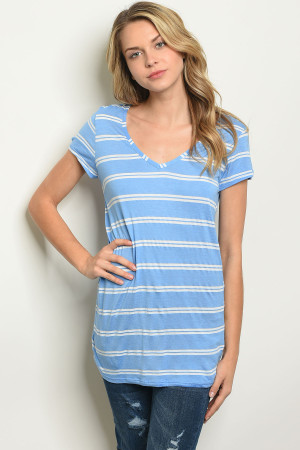 C96-A-1-T3326 BLUE STRIPES TOP 2-2