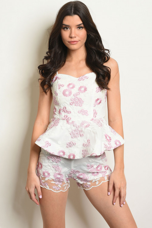 S9-13-2-R08270 IVORY PINK FLORAL EMBROIDERY ROMPER 2-2-2