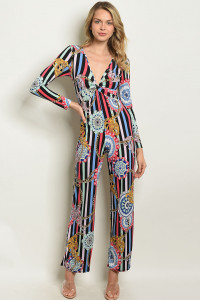 Z-B-J0162 BLACK MULTI JUMPSUIT 2-2-2