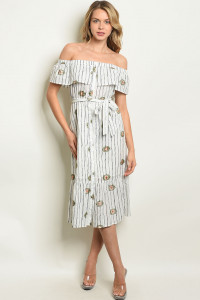 S17-2-5-D56295 OFF WHITE NAVY STRIPES DRESS 1-1-1