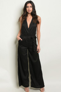S18-13-4-J1319 BLACK JUMPSUIT 2-2-2