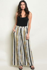 S7-2-1-P70071A BLACK MUSTARD STRIPES PANTS 2-2-2