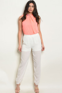 S11-8-1-J6133 PINK OFF WHITE JUMPSUIT 2-2-2