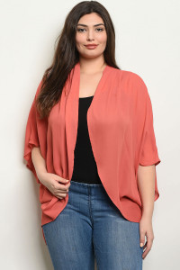 C102-A-1-C570X BRICK PLUS SIZE CARDIGAN 3-2-2