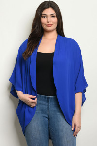 C102-A-1-C570X ROYAL PLUS SIZE CARDIGAN 2-3-2