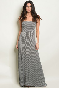 C66-A-7-NA-D0693 BLACKIVORY STRIPES DRESS 2-2-2