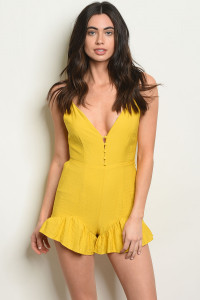 S21-11-3-NA-R70176 YELLOW ROMPER 3-2-1