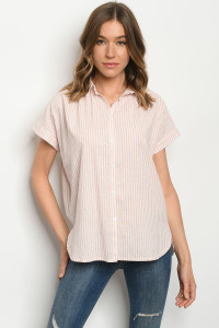 S21-2-2-T3009 PINK IVORY TOP 1-2-2-1
