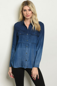 21-2-2-T34185 DENIM TOP 1-2-2-1