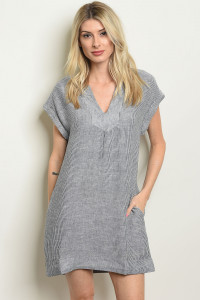 S21-1-1-D20109 IVORY BLUE DENIM DRESS 1-2-2-1