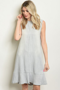 S21-6-2-D2805 GRAY WASH DRESS 1-2-2-1