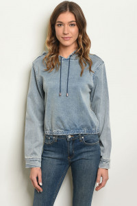 S23-1-3-J1839 BLUE DENIM JACKET 3-2-1